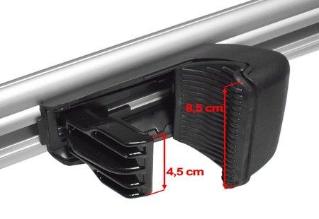 Bagażnik dachowy na relingi, aluminiowy, dł.135 cm